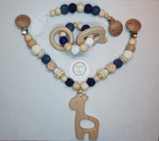 Baby Gift Set Giraffe - Wood & Fun