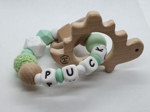 """Bijtring met naam-Bijtring naam-design """"Puck""""-Wood & Fun"""