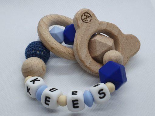 """Bijtring met naam-Bijtring naam-design """"Kees""""-Wood & Fun"""