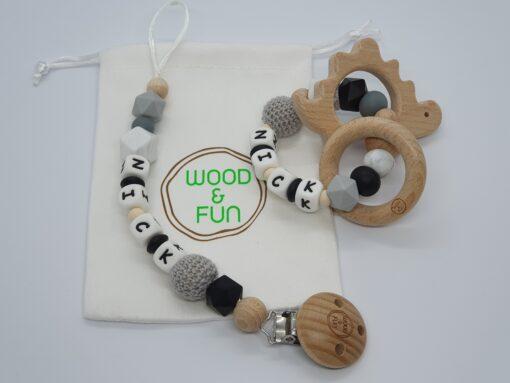 Baby gift set Nick - Wood & Fun