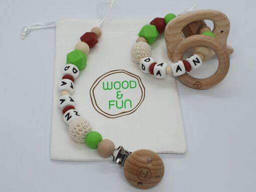 Baby gift set Daan - Wood & Fun
