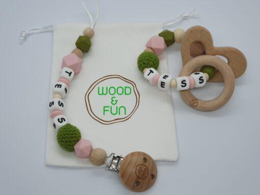 Baby gift set Tess - Wood & Fun